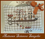Autumn Scissors Sampler - Cross Stitch Pattern