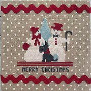 Merry Snowpeople - Cross Stitch Pattern