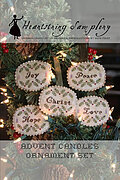 Advent Candles Ornament Set - Cross Stitch Pattern