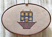 Christmas House Box Top -  Cross Stitch Pattern