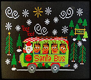 Santa Bus - Cross Stitch Pattern
