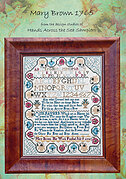 Mary Brown 1765 - Cross Stitch Pattern