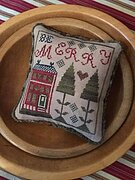 Be Merry Pyn Pillow - Cross Stitch Pattern