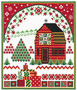 Barn with Holiday Quilts - Cross Stitch Pattern