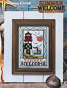 Summer Welcome Lighthouse - Cross Stitch Pattern