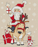 Christmas Father Arrives - Cross Stitch Pattern