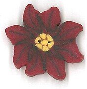 Small Poinsettia Button