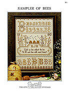 Sampler Of Bees - Cross Stitch Pattern