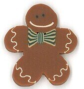 Large Fred Gingerbread Man Button