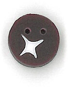Burgundy Berry Button