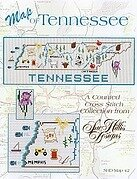 Tennessee Map - Cross Stitch Pattern