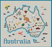 Map of Australia - Cross Stitch Pattern