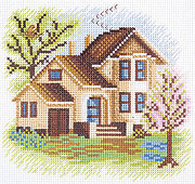 House on Flower Lane - Cross Stitch Kit