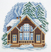 House on Snow Lane - Cross Stitch Kit