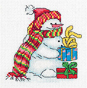 Snowman - Christmas Cross Stitch Kit