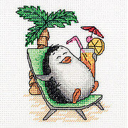 Penguin on Holiday - Cross Stitch Kit