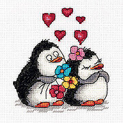 Penguins in Love - Cross Stitch Kit