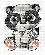Pepe the Raccoon - Cross Stitch Kit