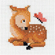 Baby Deer and a Butterfly - Cross Stitch Kit