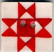 Jim Shore Red Ohio Star Button
