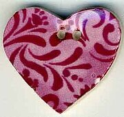 Jim Shore Rose Hearts Desire Button