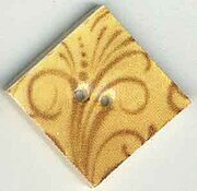 Jim Shore Wheat Flourish Diamond Button