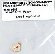 Button for Little Sheep Virtues - Peace
