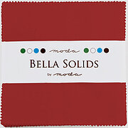 Christmas Red Bella Solids Charm Pack