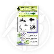 Watercolor Foliage Set 1 - Unmounted Rubber Stamp