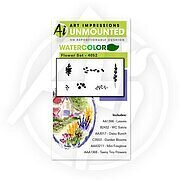 Watercolor Flower Set - Unmounted Rubber Stamp