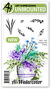 Watercolor Foliage Set 2 - Unmounted Rubber Stamp