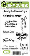 Watercolor Sentiments Set - Clear Stamp