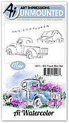 Watercolor Truck Mini Set - Cling Stamp