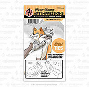 Cat Twist Ties - Clear Stamps and Dies