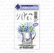 Watercolor Foliage Set 4 - Cling Stamp Set