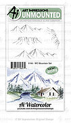 Watercolor Mountain - Cling Stamp Set