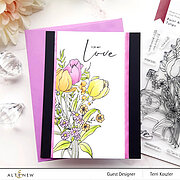 Tulips Outline - Paint-A-Flower - Clear Stamp