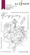 Paint-A-Flower: Camellia Outline - Clear Stamp