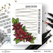 Holiday Flower - Christmas Stamp and Die Set
