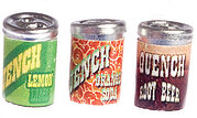 Quench Soda Cans - Set of 3 - Dollhouse Miniature
