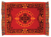 Karastan Red Rug - 6 x 8 - Dollhouse Miniature