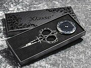 Klasse Black Embroidery Scissor and Tape Measure Gift Set