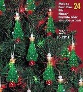 "Holiday Beaded Ornament Kit CRYSTAL CROSSES Christmas Ornaments 2/"" Makes 24"
