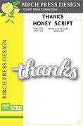 Thanks Honey Script - Craft Die