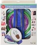 Boye Plastic Embroidery Hoops and Stand