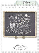 Believe - Cross Stitch Pattern