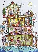 Cut Thru North Pole House - Cross Stitch Kit