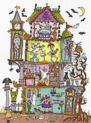 Cut Thru Haunted House - Cross Stitch Kit
