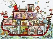 Cut Thru Cruise Ship - Cross Stitch Kit