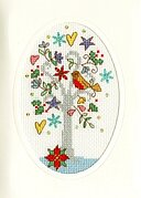 Winter Wishes Christmas Card - Cross Stitch Kit
